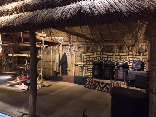Interior of Ainu house